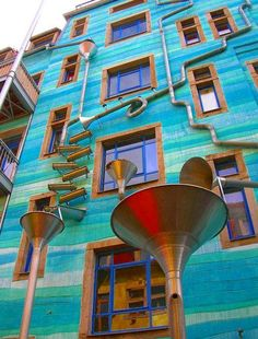 A wall that plays music when it rains. In Dresden, Germany. @7ideas