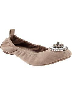 Women's Embellished Ballet Flats
