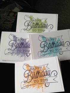 handmde birthday cards ... HB to You by NMartin .... quick and easy ... one layer design ... stamped grunge in pretty pastel color topped with black inked sentiment design ... Stampin' Up!