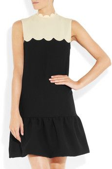 scalloped crepe dress by victoria beckham