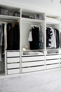 Create More Space in Your Homes With Ikea Pax Closet Ikea Pax Closet, Bedroom Closet Doors, Bedroom Closet Storage, Ikea Pax Wardrobe, Wardrobe Room, Closet Drawers, Bedroom Drawers, Bedroom Closet Design, Wardrobe Storage