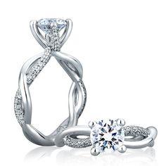 A. Jaffe Diamond Semi-Mount Ring 18K #benbridge