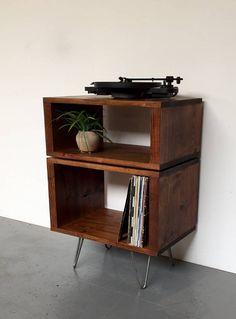 Kompakte gestapelt Sideboard Konsole Vinyl Lagereinheit ideal