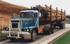 From my collection, Pacific trucks originate in Canada. They are also very popular in New Zealand where this was shot. Big Rig Trucks, Semi Trucks, Logging Equipment, Heavy Truck, Transporter, Diesel Engine, New Zealand, Old Things, Rigs