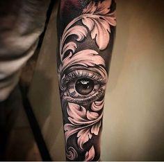 New black art tattoo ideas eyes 64 Ideas Forearm Tattoos, Body Art Tattoos, Girl Tattoos, Tattoos For Guys, Baroque Tattoo, Filigree Tattoo, Tattoo Sleeve Designs, Sleeve Tattoos, Tattoos For Women Small
