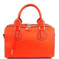 This item sell at handbagloverusa.com Saffiano Padlock Boston Bag fashion handbag purse