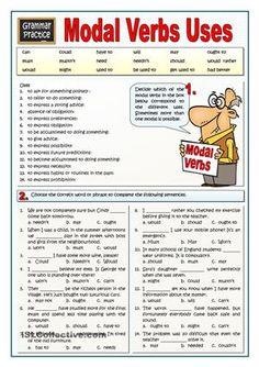 6 English Grammar Worksheets MODAL VERBS USES √ English Grammar Worksheets . Grammar Beginners in Worksheets Verb Worksheets, English Grammar Worksheets, English Verbs, English Vocabulary, Printable Worksheets, English Language, Grammar Quiz, Grammar Practice, Grammar Lessons