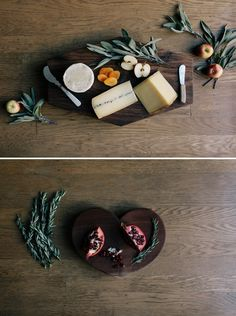 Geometric Cutting Board DIY... Mostly I love the food styling in this image