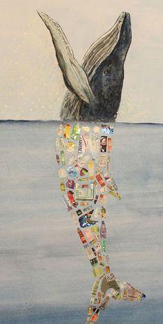 Neueste Fotos meerestiere plastik Ideen , - Neueste Fotos meerestiere plastik Ideen , Rette unsere Meere l rette das Meer l rette die Wale - Ocean Pollution, Plastic Pollution, Trash Art, Illustration, Gcse Art, Ocean Art, Ocean Ocean, Environmental Art, Recycled Art
