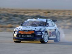 Hyundai and Rhys Millen Racing have unveiled an all-new Hyundai Veloster rally car. The car, along with Rhys Millen and Robbie Maddison, will be competing in X Games The car was built on the sa . New Hyundai, V8 Supercars, Hyundai Veloster, Nascar Sprint Cup, Karting, Rally Car, Drag Racing, Le Mans, Super Cars