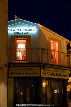 17 Villa Marocaine restaurant at night France / Atlantic coast / St Gilles Croix de Vie༺ ♠ ༻*ŦƶȠ*༺ ♠ ༻