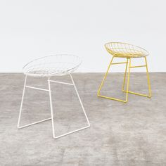 Set of 2 KM05 stools from the fifties by Cees Braakman & A. Dekker for Pastoe