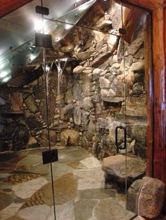Pretty cool.. Doesn't engage the romantic in me, but would be great for a mountain retreat. Cave shower