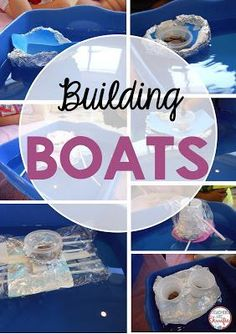 STEM Challenge: Build a boat that has to float and hold weight! Test it with…