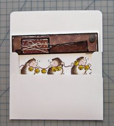 how to make ANY size envelope for any sized card! easy and quick! SCS
