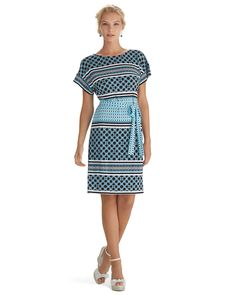 White House | Black Market  #whbm  Like the colors and the design as well as the length. Not a fan of the sleeve cut.
