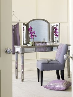 Pier 1 Hayworth Mirror and Vanity is glam and chic