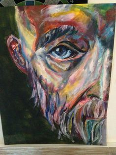 Final Painting- Homeless man Portrait- Acrylic Painting