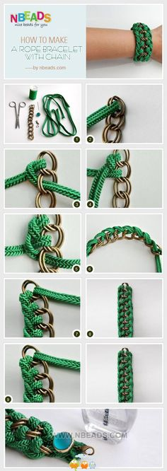 Any kind of rope and chain to make this bracelet