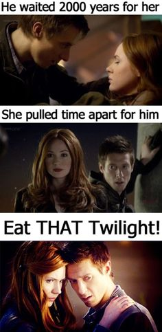 Amy and Rory Pond, far greater love story than bellas and edwards