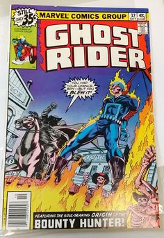 1978 Ghost Rider Origin of the Bounty Hunter!  No. 32 Oct 1978 Marvel Comics Group by collectiblejewels on Etsy