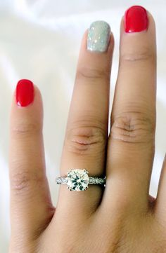 My engagement ring! It's perfect! He did a great job!