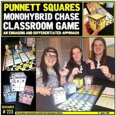 Punnett Squares: Monohybrid Crosses: Classroom Game (color and black and white) Classroom Games, Science Education, Differentiation, Teacher Newsletter, Teacher Pay Teachers, Squares, Students, Knowledge, Challenges