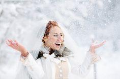 Love this shoot #Winter #Wedding #Bride