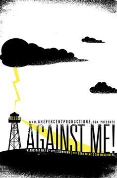 against me! flyer