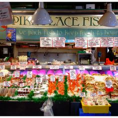 Pick out dinner from Pikes Place Fish Market, Seattle, WA