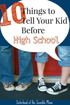 Moving from middle school to high school can be daunting. Here are 10 things for parents to talk about with tweens and teens as they move up | Parenting Advice | Sisterhood of the Sensible Moms
