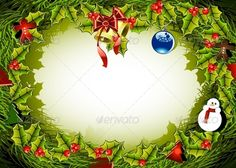 Christmas Background #GraphicRiver christmas background EPS, AI and JPG file. Created: 21July13 GraphicsFilesIncluded: JPGImage #VectorEPS #AIIllustrator Layered: No MinimumAdobeCSVersion: CS5 Tags: background #bell #bells #berry #celebration #christmas #circle #december #decorating #decoration #eve #fir #green #greentree #holiday #illustration #newyear #ornament #ornate #ribbon #season #snowman #traditional #vector #winter #wreath #years