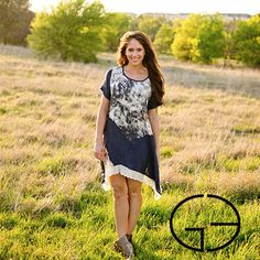 Blue and White Tie Dye Tunic