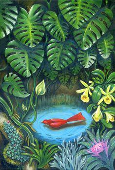Ознакомьтесь с моим проектом @Behance: «Red bird in the tropical forest» https://www.behance.net/gallery/59472831/Red-bird-in-the-tropical-forest