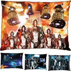 New Dr Doctor Who Flying Tardis Daleks Cybermen David Tennant Pillow Case | eBay