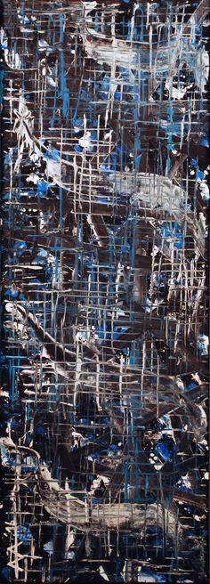 """Morning dew"" Acrylic on canvas 20/60cm (2016) Anda Anastasopoulou"