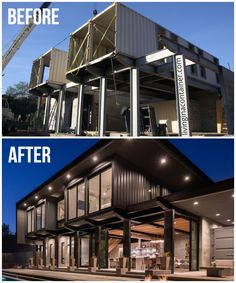 Building A Container Home, Container Buildings, Container Architecture, Architecture Design, Shipping Container Home Designs, Container House Design, Shipping Containers, Usa Living, Modern House Design