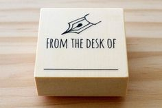 Rubber stamp  From the desk of  stamp by karaku on Etsy, ¥650