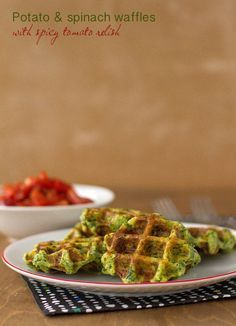 Light as air and full of flavour, these little 2 bite savoury waffles are a great spin on your usual veggie side. This recipe was inspired by one for pommes dauphine, or more specifically, the line…
