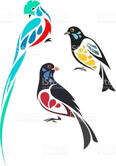 Would be cute on canvases Birds Painting, Stencil Art, Dots Art, Illustration, Fabric Painting, Stock Illustration, Bird Drawings, Bird Stencil, Vector Art Illustration