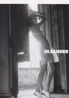 Campaign: Jil Sander Season: Spring 2004 Photographer: David Sims Model(s): Elise Crombez