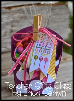 All the ideas in this post are cute! Pink Buckaroo Designs: Teacher Gifts Class