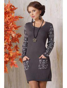 Короткое облегающее платье на осень-зиму 2015 - 2016 фото новинки