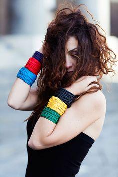 Rossana Limata / Geometrica Design #fuorisalone #lambrate #din2016 #fashion #bracelets #fabrics #colours #pinDin