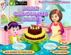 Anna wishes to pamper her taste bud with Dark Chocolate Cake. Play the game to know how her mom prepares dark chocolate cake. Cake Games, Dark Chocolate Cakes, Cooking Games, Play Food, Play Online, Taste Buds, Cake Recipes, Anna, Mom
