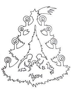 Christmas nativity tree