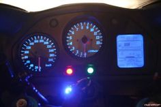 Changing the Instrument panel bulbs to LED's - Modifications - VFR Discussion