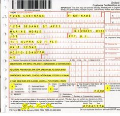 How to fill out the postal Customs form when sending out military care packages. Check out http://armymomstrong.com/category/resources/care-packages/