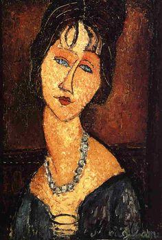 Amadeo Modigliani, Jeanne Hebuterne with Necklace, 1917