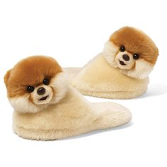 Gund Boo The World's Cutest Dog Child Sized Slippers 9 Plush One Size